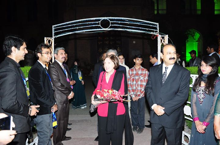 Reception of Chief Guest Mrs. Saeed Osman Malick