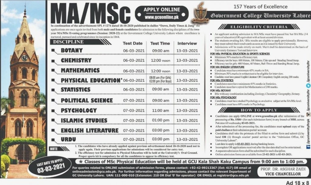 MA Political Science (Advertisement)