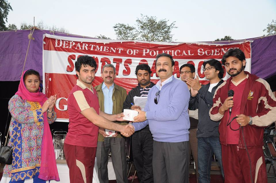 Irfan Ullah Receiving Player of the Match Award from the Chairperson