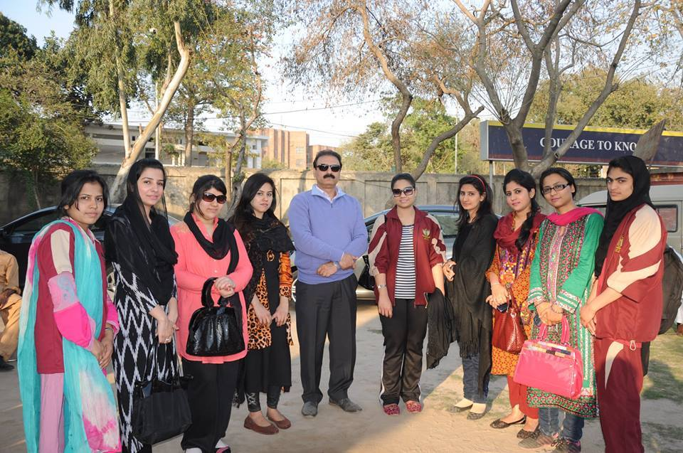 Students with Chairperson, Dr. Butt