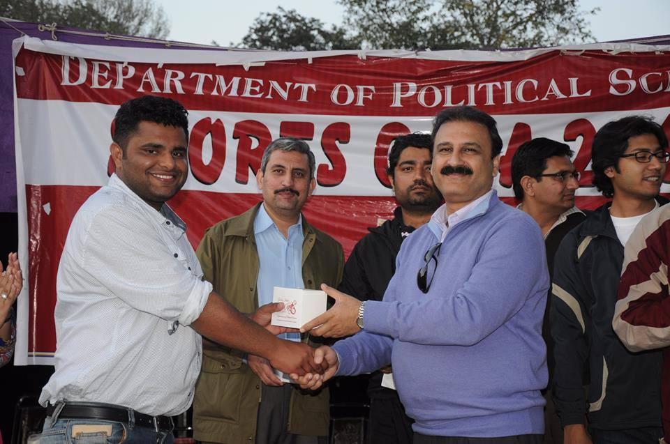 Ali Umer Tipu (Match Umpire) receiving souvenir  from the Chairperson