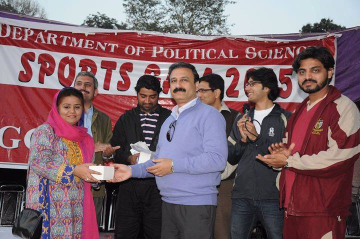Sadia Rafique (Organizer) receiving souvenir  from the Chairperson