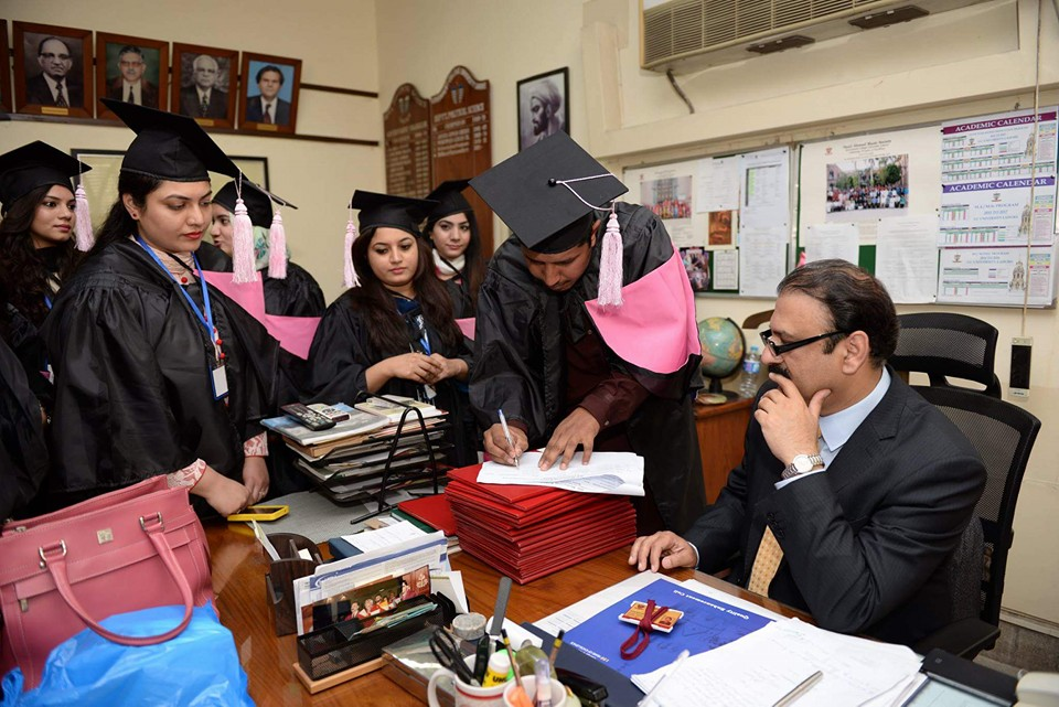 MPhil students receiving their degress