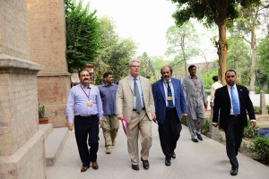 Vice Chancellor and Dr. Khalid Manzoor Butt accompanying the Consul General