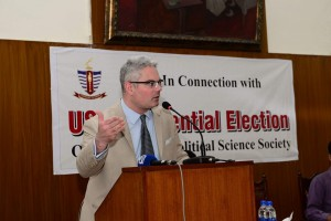 Consul General delivering his lecture