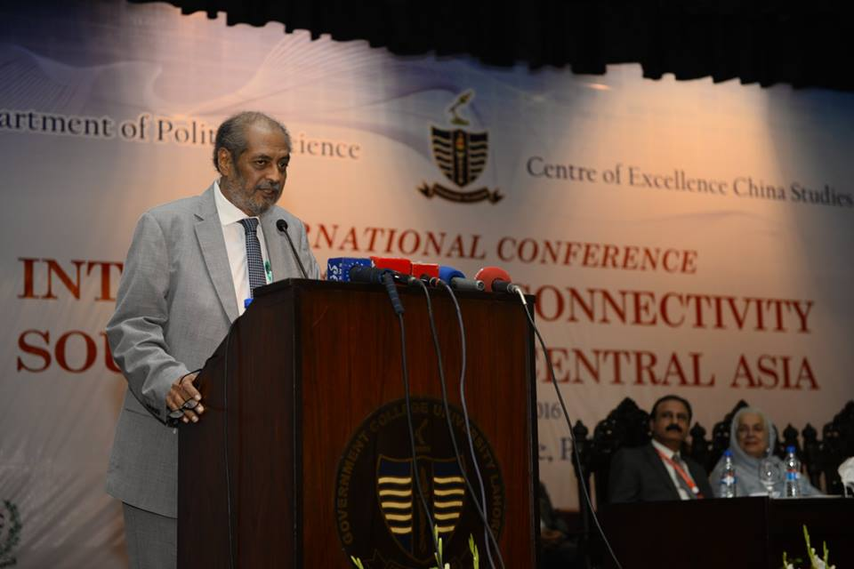 Vice Chancellor, Prof. Dr. Hassan Amir Shah thanking the guests