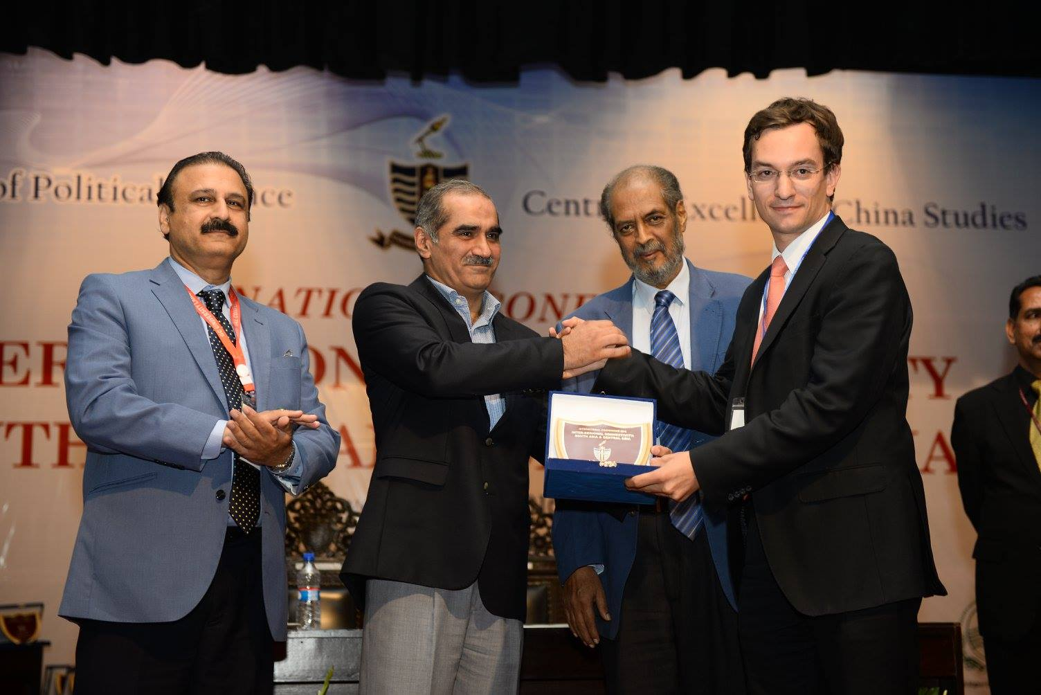 Chief Guest, Khawaja Saad Rafique presenting Souvenirs to Speakers