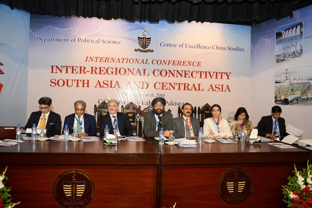 Mr. Ahmed Nazir Wrraich (Expert on IL), Mr. Faiq Sadiq (Economist, HBL) Mr. Jonathun Fulton (UAE), Dr. Bilveer Singh (Session Chair, NUS), Prof. Dr. Khalid Manzoor Butt (GCU), Ms. Anum Abid Butt (WCL), MS. Sadi Rafique (GCU), Mr. Mehmood Hussain (China)