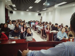 Glimpses of the Lecture at CUG, Wuhan